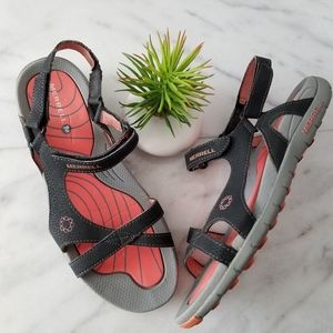 MERRELL LATTICE Sport Sandal Black Coral Strappy